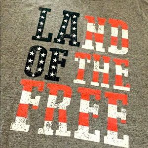🇺🇸 Land of the Free American Flag Cotton T-Shirt
